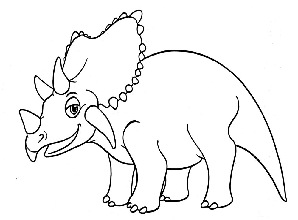 Раскраски динозаврика