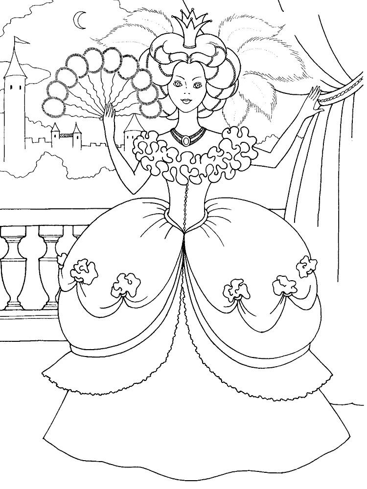 Принцессы на раскрасках, распечатать которые можно прямо здесь
