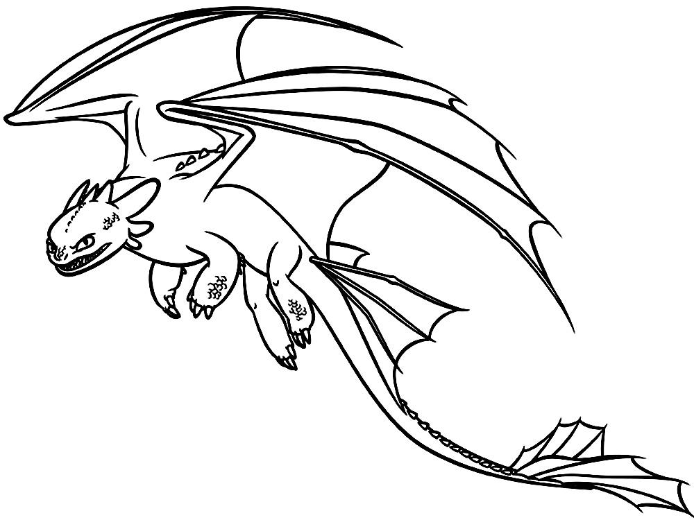 Раскраски драконы печать