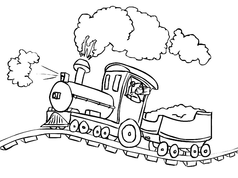 Раскраска на железной дороге - Раскраски Поезда и железная ...
