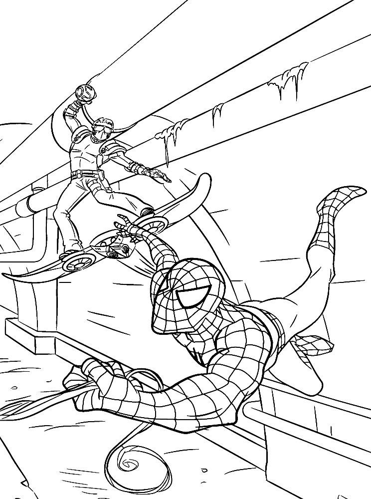 Человек паук играть в раскраски
