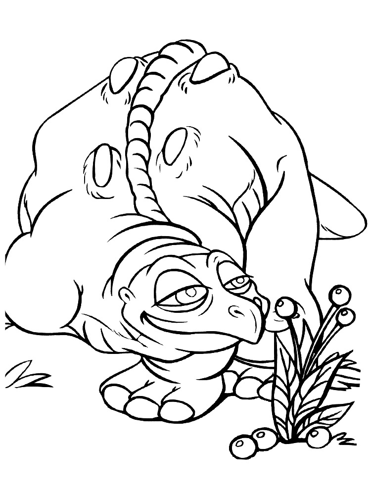 Раскраска для детей со Спайком